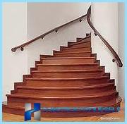 Acabado de la madera escaleras de hormigón, laminado