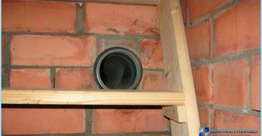La ventilación en el sótano de una casa privada