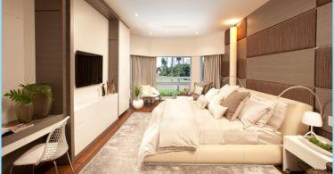 Interior del dormitorio en estilo moderno