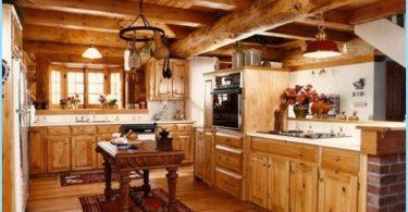 Cocina en una casa de madera - un diseño moderno en la cabaña