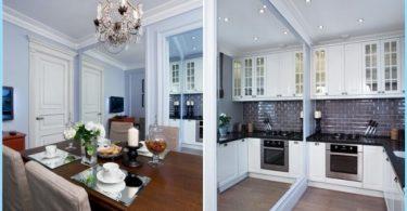 Cocina Estudio 20, 18, 16 sq. m. - Diseño moderno elegante