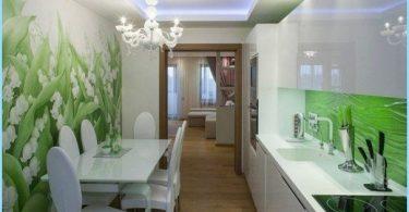 foto de la pared en la cocina, espacio en expansión