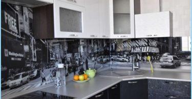 delantal de vidrio para la cocina con fotos