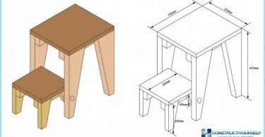 Una silla-escalera de mano: fotos, vídeos, dibujos