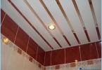 ¿Cómo hacer un techo de rejilla en el baño