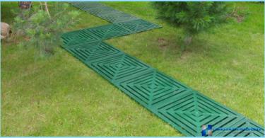 senderos del jardín de plástico
